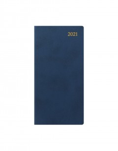 Signature Slim Week to View Leather Diary with Planners 2021