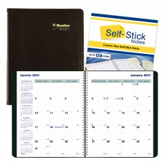 PlannerPlus Monthly Planner 2021, Black