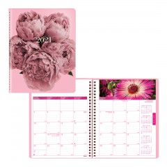 Pink Ribbon Monthly Planner 2021, Pink