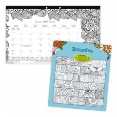 DoodlePlan™ Colouring Desk Pad 2021, Botanica