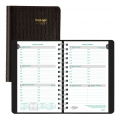 EcoLogix Weekly Planner 2021, Black