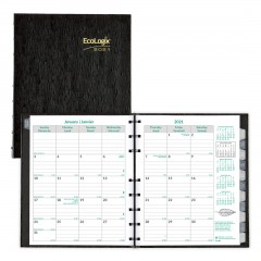 Ecologix CoilPro Monthly Planner 2021, Black