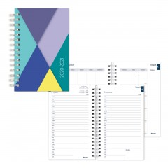 Academic Daily Planner Geometric 2020-2021 - English