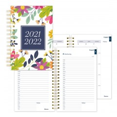 Academic Daily Planner Floral 2021-2022, English
