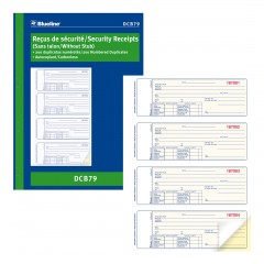 Security Receipts Book
