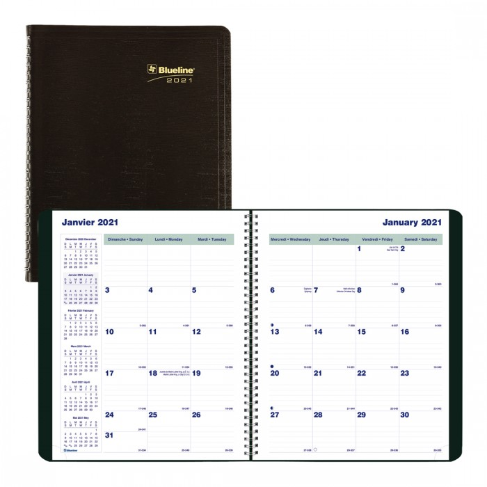 Monthly Planner 2021, Black