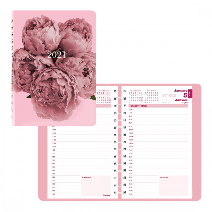 Pink Ribbon Daily Planner 2021, Pink