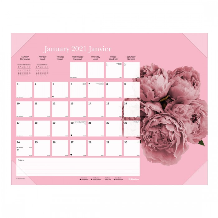 Pink Ribbon Monthly Desk Pad 2021,