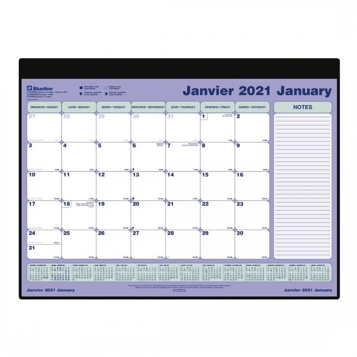 Monthly Desk Pad 2021