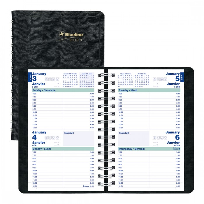 Two-Day Planner 2021, Black