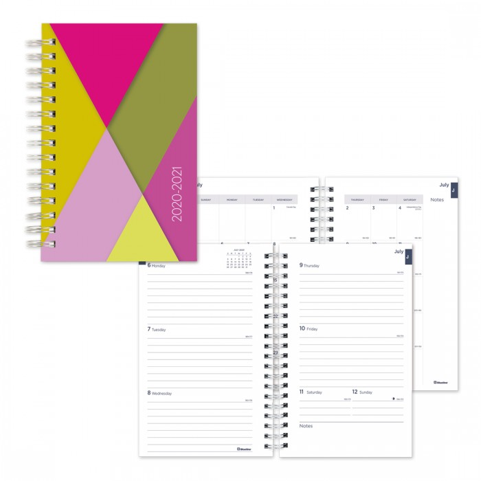 Academic Weekly Planner Geometric 2020-2021 - English