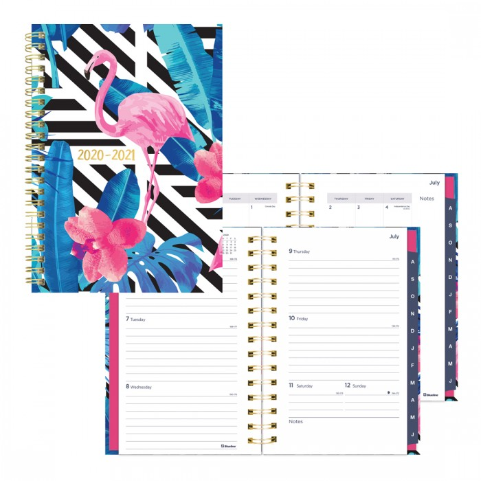 Academic Weekly Planner Flamingo 2020-2021 - English
