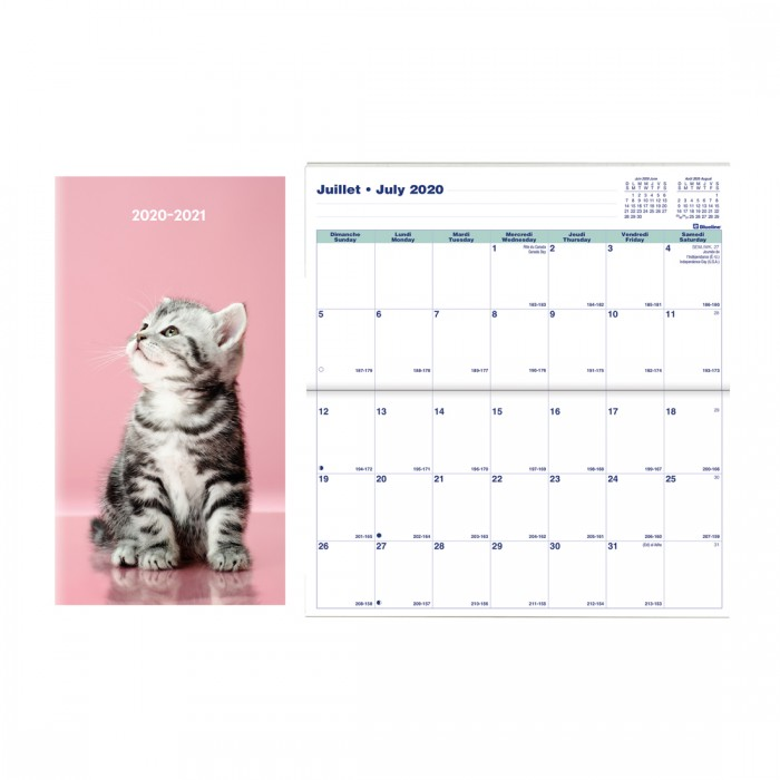 Academic Monthly Pocket Planner Animals 2020-2021