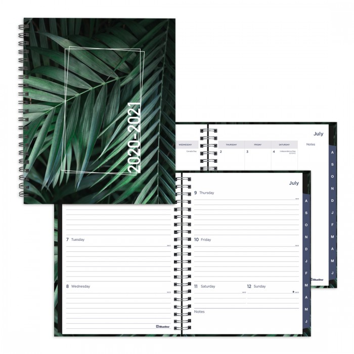 Academic Weekly Planner Tropical 2020-2021 - English