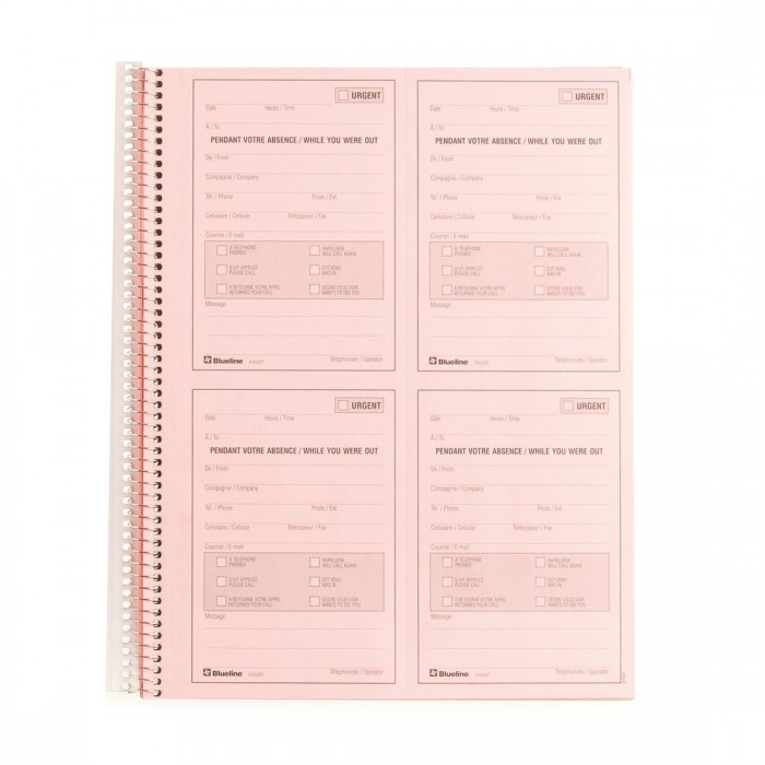 Telephone Message Book - Bilingual