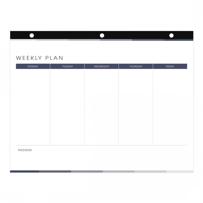 Undated Weekly Plan Desk Pad - English