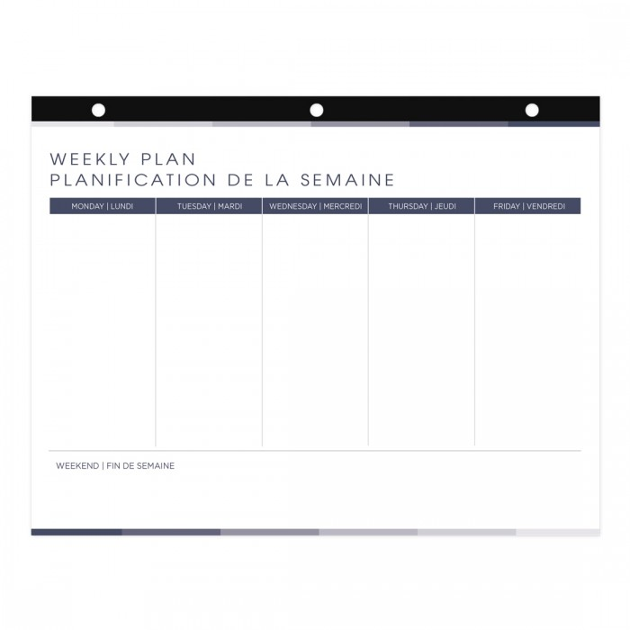 Undated Weekly Plan Desk Pad