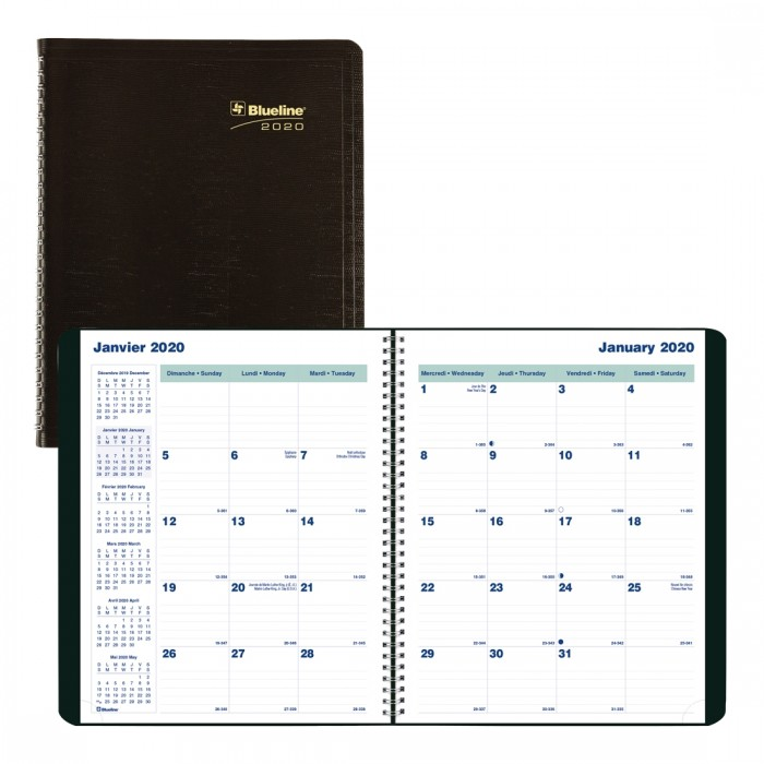 Monthly Planner 2020, Black