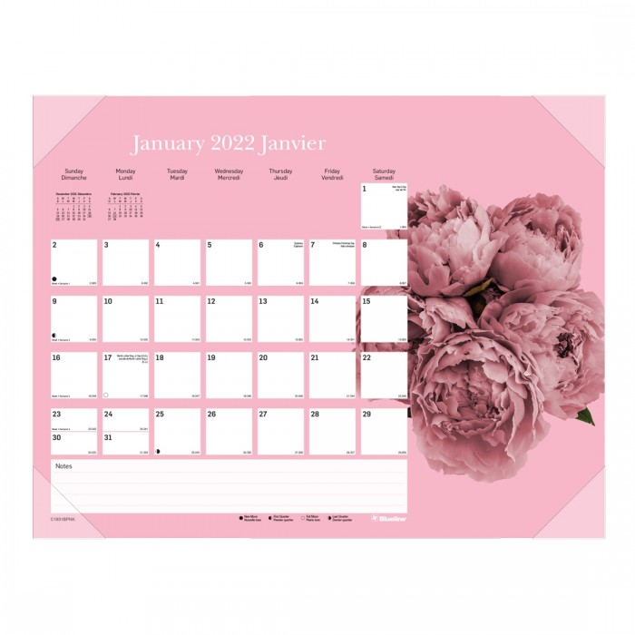 Pink Ribbon Monthly Desk Pad 2022