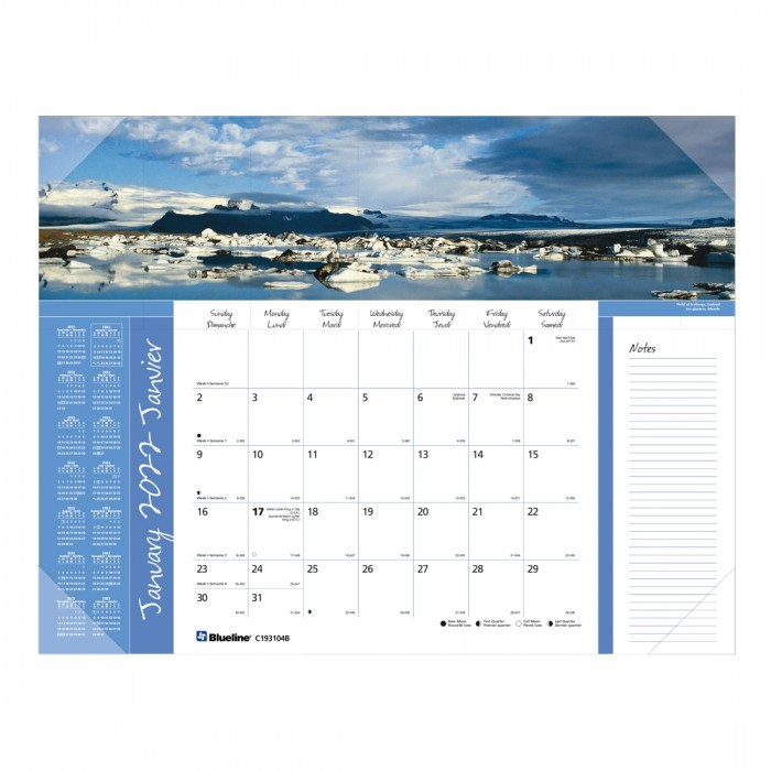 Imagine Collection Monthly Desk Pad 2022, World panoramas