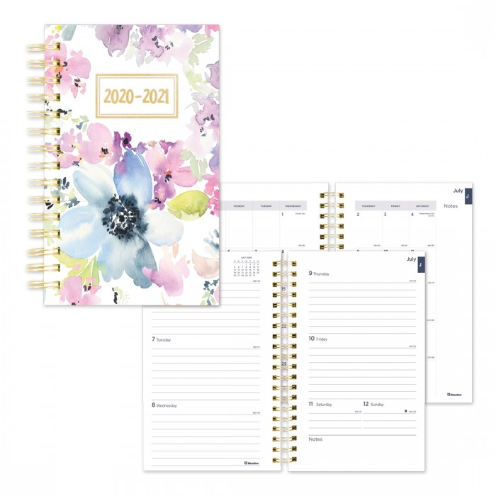 Academic Weekly Planner Floral Design 2020-2021 - English