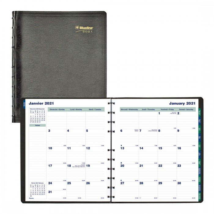 MiracleBind™ Monthly Planner 2021, Black
