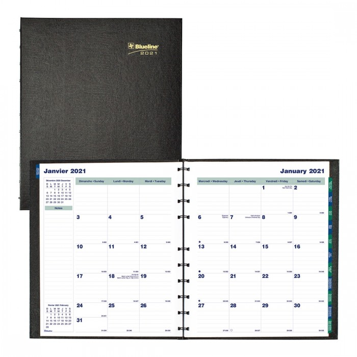 MiracleBind™/CoilPro Monthly Planner 2021, Black