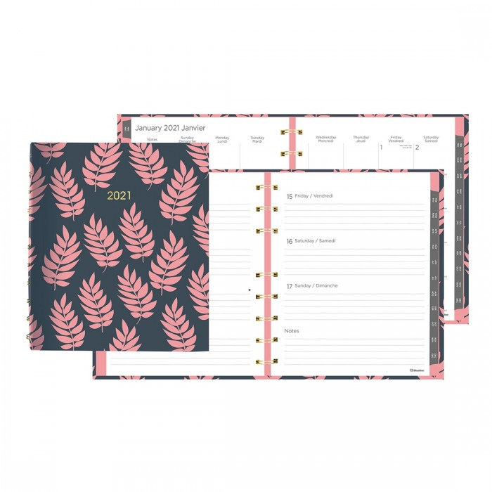 Coral - Weekly/Monthly Planner 2021, Miraclebind™