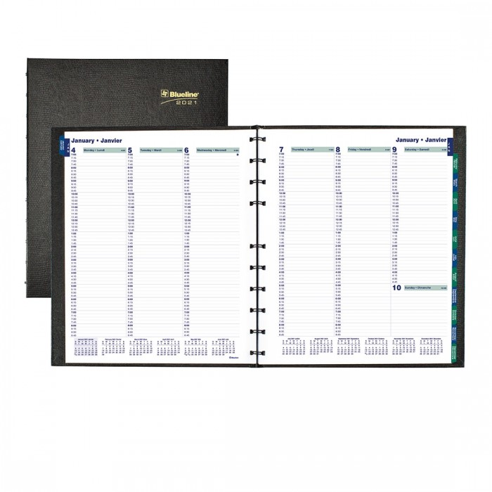 MiracleBind™/CoilPro Weekly Planner 2021, Black