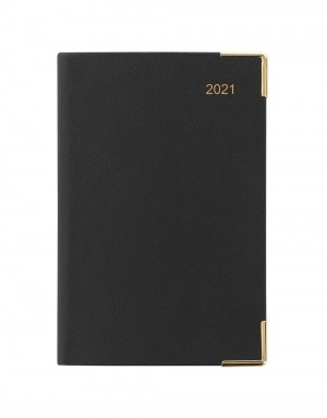 Classic Mini Pocket Day to Page Diary 2021 Black