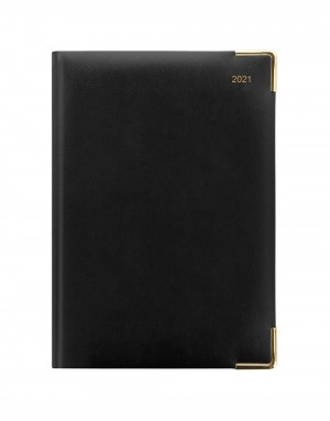 Classic A5 Vertical Week to View Diary with Appointments 2021 Black