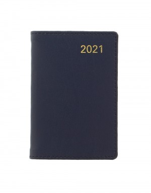 Belgravia Mini Pocket Week to View Leather Diary with Planners 2021