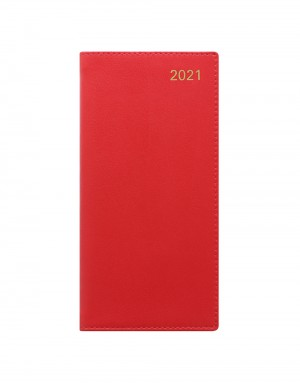 Belgravia Slim Week to View Leather Diary with Planners 2021