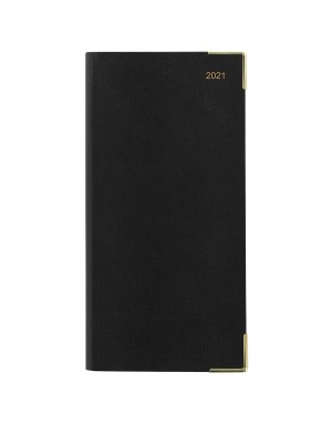Classic Slim Two Weeks to View Diary 2021 Black