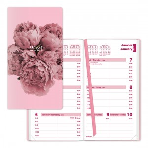 Pink Ribbon Weekly Planner 2021, Pink