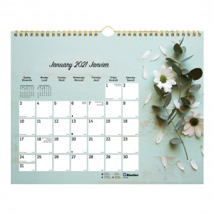 Colourful Wall Calendar Romantic 2021