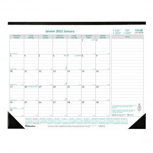 EcoLogix Monthly Desk Pad 2021