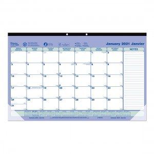 Monthly Desk Pad or Wall Calendar 2021