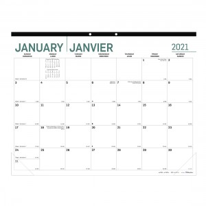 Monthly Desk Pad Pure 2021