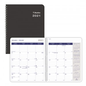 DuraGlobe Monthly Planner 2021,  Black