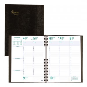 Timanager® CoilPro Weekly Planner 2021, Black
