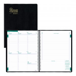 Timanager® Weekly Planner 2021, Black