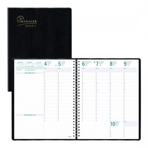 Timanager® Weekly Planner 2021, English, Black