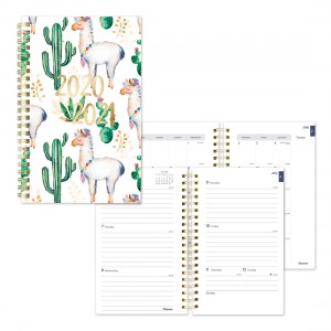 Academic Weekly Planner Cactus 2020-2021 - English