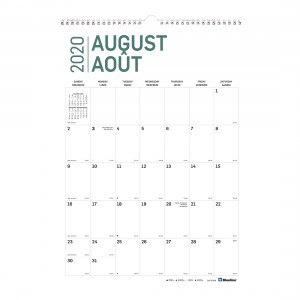 Academic Wall Calendar Pure 2020-2021