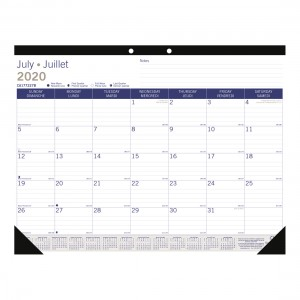 DuraGlobe Academic Monthly Desk Pad 2020-2021