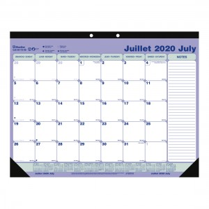 Academic Monthly desk pad 2020-2021