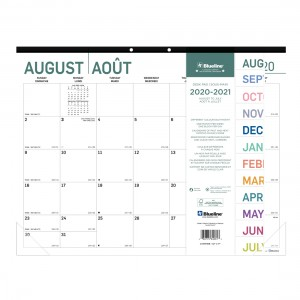 Academic Monthly Desk Pad Pure 2020-2021