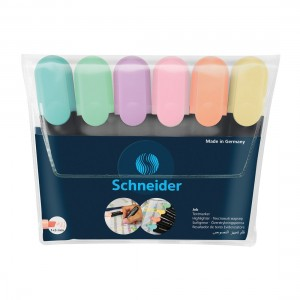 Job Pastel Highlighters, Wallet 6 pieces - Assorted