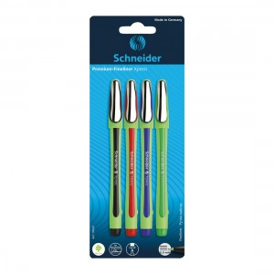 Xpress Fineliners 0.8mm, 4 pieces - Assorted
